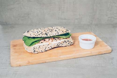 Sanduíche salmão gourmet