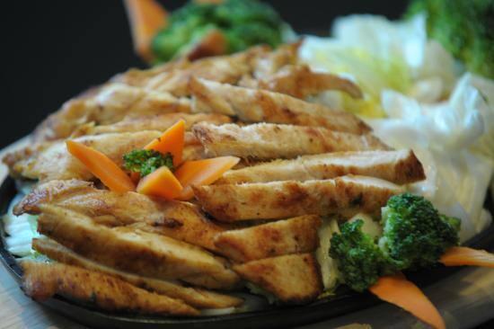 Teppanyaki de frango