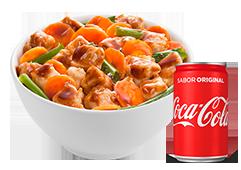 Bowl frango + Coca-Cola com 15% de desconto