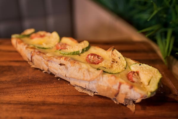 Baguete vegetariano zucchini