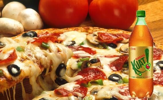 Promoção combo pizza frango com Catupiry grande + 1 Guaraná Kuat 2l