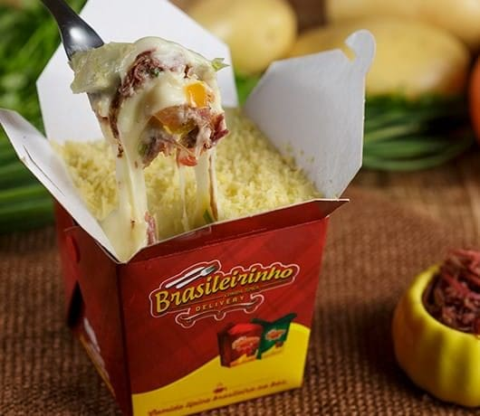 Box escondidinho de carne seca