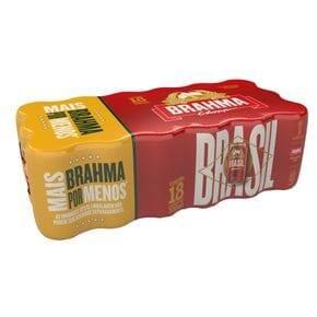 Brahma lata 350 ml – pack c/ 18 unid