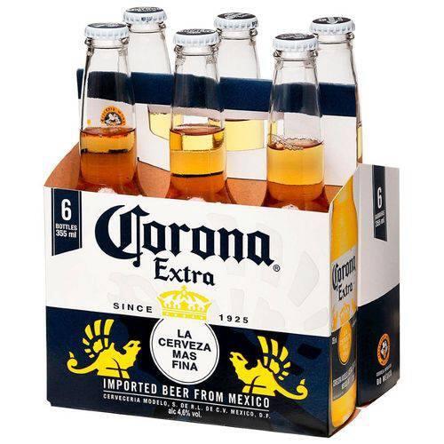 Corona long neck 355 ml pack c/ 6 unid