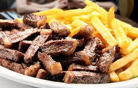Carne de sol com batata frita