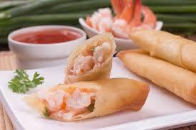 05-harumaki de camarão com cream chesse ( rolinho primavera de camarão )