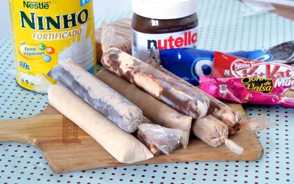 NINHO COM NUTELLA GRANDE
