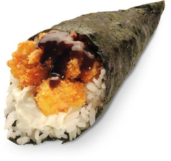 Temaki salmão panko