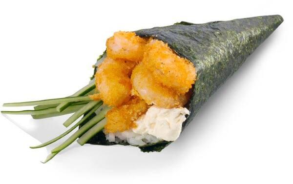 Temaki hot camarão