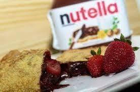 Pastel de Nutella com morango