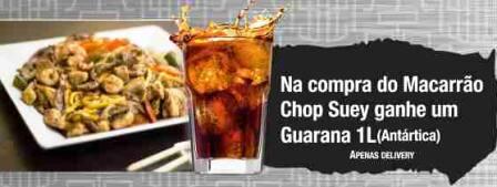 Macarrão chop suey completo+refrigerante 1lt.