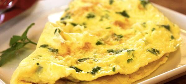 Omelete queijo