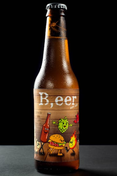 B, eer hoppy lager - 330 ml