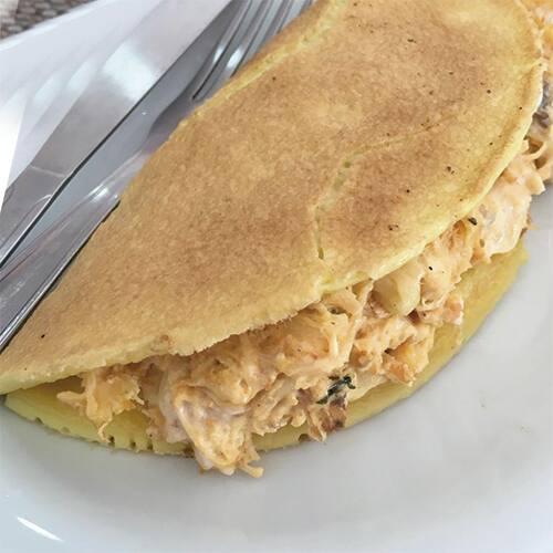 Crepioca de frango cremoso