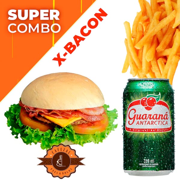 Combo X-Bacon +Guaraná Lata +Fritas