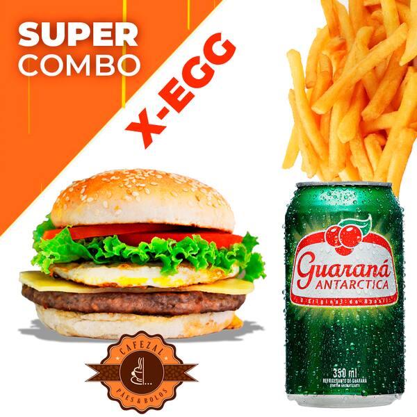 Combo X-Egg +Guaraná Lata +Fritas