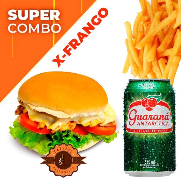 Combo X-Frango +Guaraná Lata +Fritas