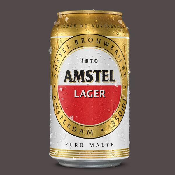 Cerveja lata Amstel 350ml