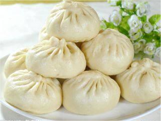 Pão chinês recheado