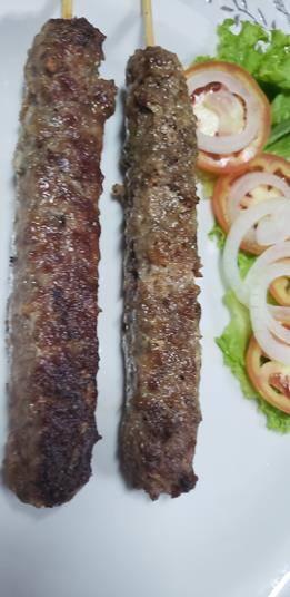 Espeto de carne moída c/ charque