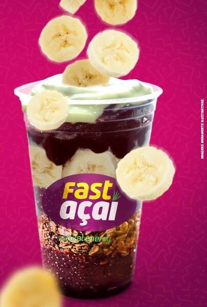 Açaí em ondas médio (300ml) com banana, granola e leite condensado