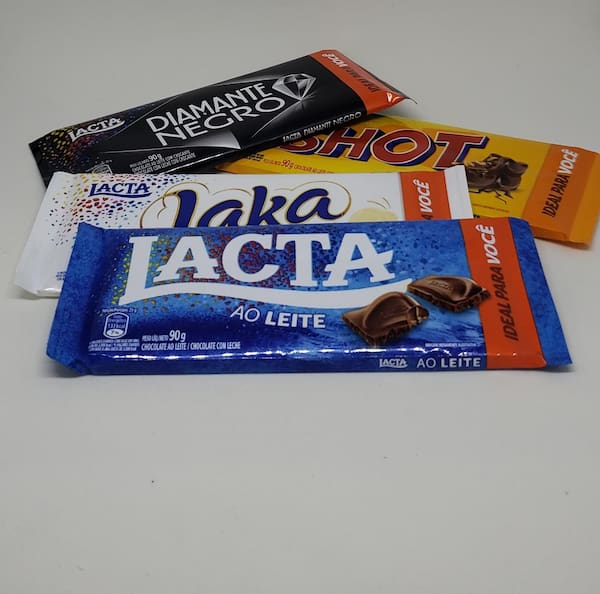 Barra chocolate lacta