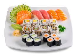 Combo misto sushi e sashimi 36 peças