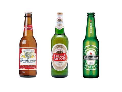 Cardápio cervejas long neck