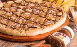 Black week: pizza de banana com nutela grande