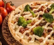 Promoção de pizza média da semana  - com 50% de desconto