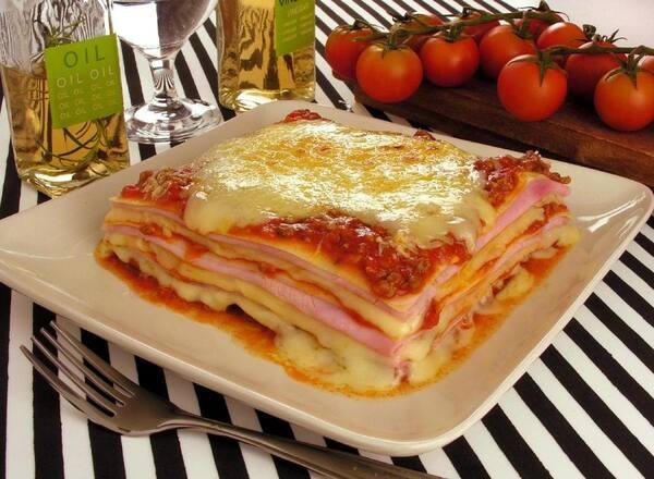 8 - lasanha presunto e queijo