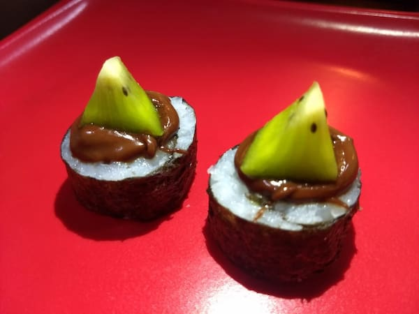 Hossomaki kiwi com Nutella