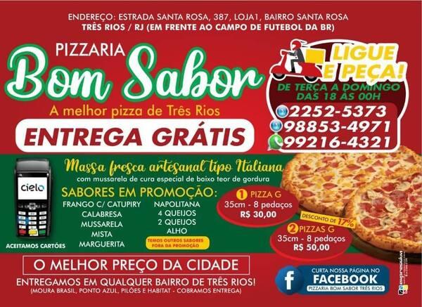 Pizza g 35cm 8 pedçs todos sabores