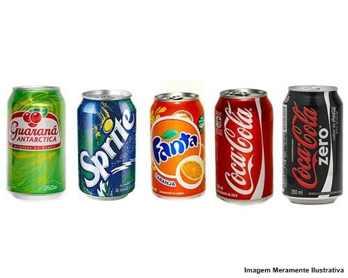 Refrigerante - lata 350 ml ( coca cola, coca cola zero, Fanta, Sprite e guaraná Antarctica)