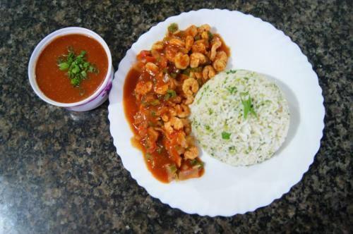 Camarões la yang 2P (acompanha arroz c/brócolis)