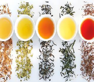 Chás de vários sabores