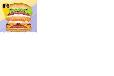 Trio hamburguer nº 6  (pão, 4 queijos, 2 carnes, provolone, presunto, cheddar, catupiry, queijo prato, bacon, ovo e salada