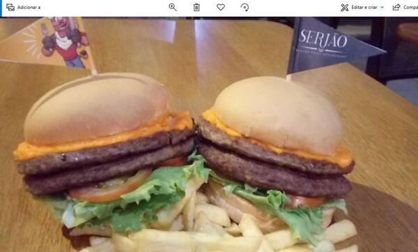 Dois hambúrguer duplo salada - 33% off