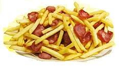 Batata frita média  + ling calabresa