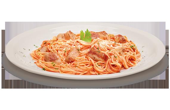 Spaghettini iscas de peito frango