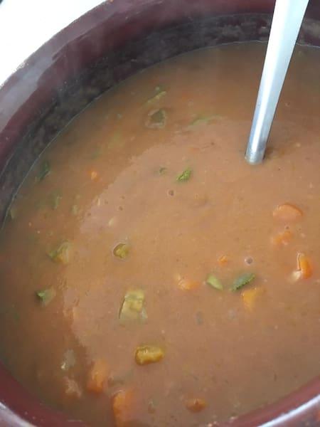 Sopa de feijão c/ legumes