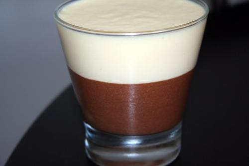 Mousse chocolate branco e preto