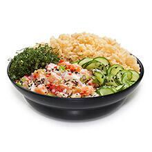 Poke ceviche salmão com arroz