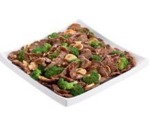 Carne com brócolis oriental pequeno