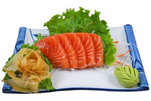 Sashimi de salmão (05 unidades)