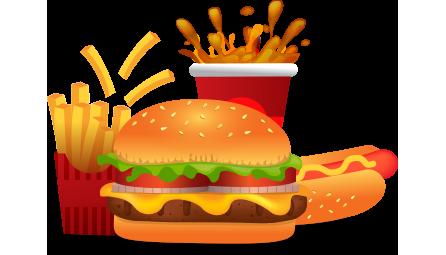 3 hambúrguer + 1 batata media + 1 litro