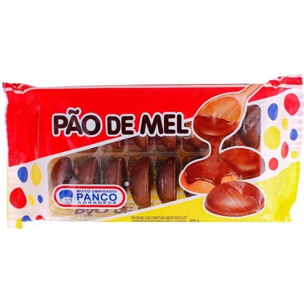 Pão de mel cobertura chocolate panco