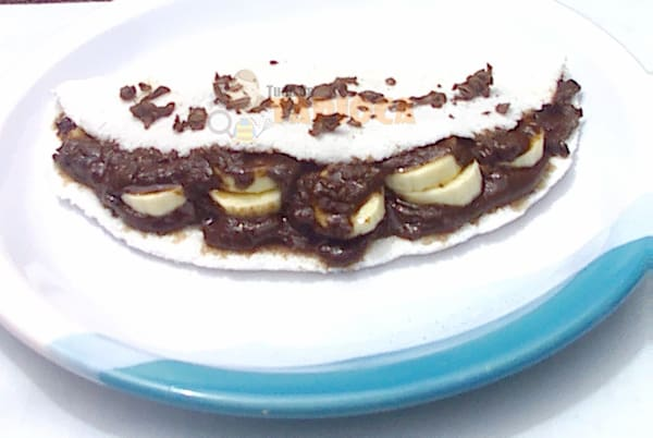 Tapioca de chocolate com Banana