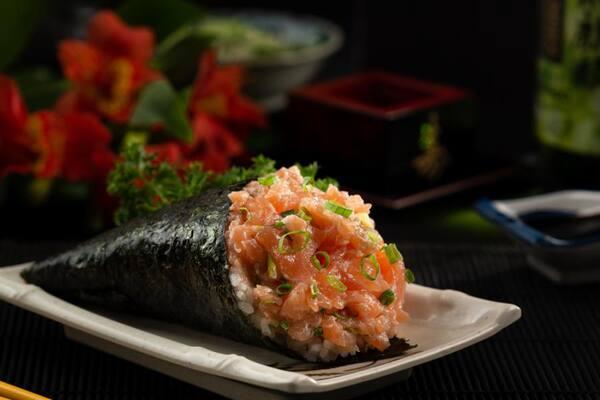 2 - temaki salmão completo