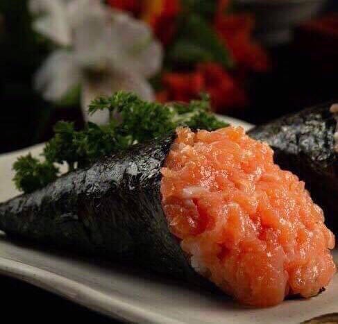1 - temaki salmão simples